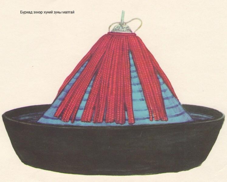 Бурятский головной убор из бумаги